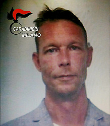 Christian Bruckner the alleged murderer of Maddie McCann, the 3-year-old English girl who passed away in 2007 in Portugal, in a mug shot on September 28, 2018, when he was arrested for dealing international drug abuse by the Milan carabinieri. Photo by Alberto Cattaneo/IPA/ABACAPRESS.COM