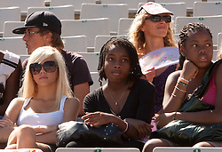 Spectators during day one of the 20th European Athletics Championships at the Olympic Stadium on July 27, 2010 in Barcelona, Spain. (Photo by Vid Ponikvar / Sportida)