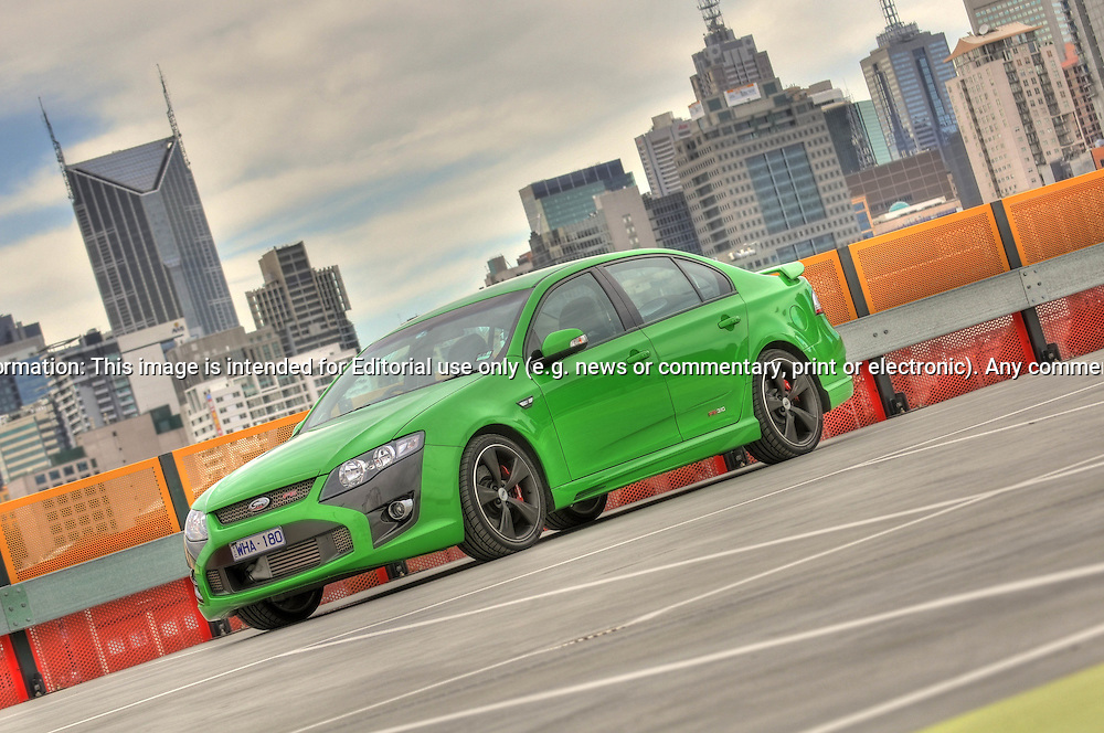 2009 Ford FPV F6 Photo Shoot in Dash green.HDR.Docklands, Melbourne, Victoria .24th of May 2009.(C) Joel Strickland Photographics.Use information: This image is intended for Editorial use only (e.g. news or commentary, print or electronic). Any commercial or promotional use requires additional clearance.