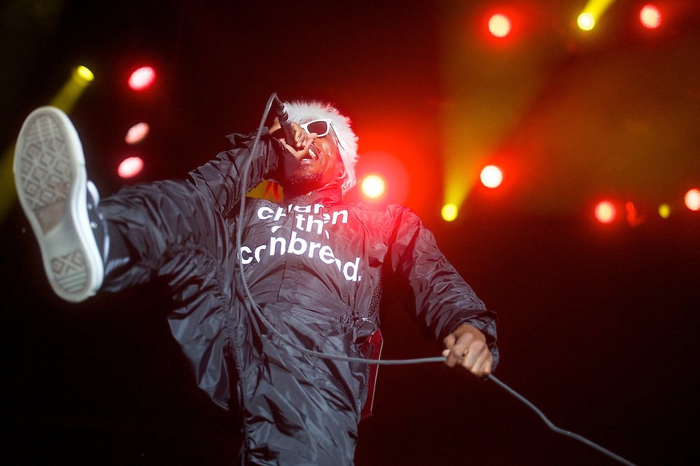 André 3000 of Outkast performs during the Firefly Music Festival in Dover, DE on June 21, 2014.  The four day festival is set at a 105 acre grounds at the Dover International Speedway and many well known bands perform.