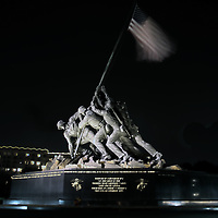 United States Marine Corps War Memorial in Arlington County, Virginia, also known as the Iwo Jima Memorial. HDR photo composite of three exposures.