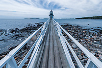 Marshal Point Lighthouse in Port Clyde, Maine, USA.