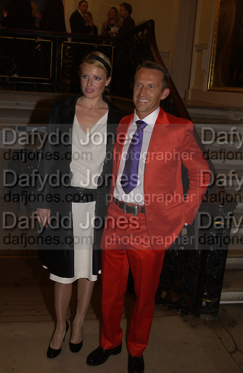 Edwin Lemberg and Sarah-Jane Godman, Tamara de Lempicka private view, Royal academy. London. 11 May 2004. SUPPLIED FOR ONE-TIME USE ONLY> DO NOT ARCHIVE. © Copyright Photograph by Dafydd Jones 66 Stockwell Park Rd. London SW9 0DA Tel 020 7733 0108 www.dafjones.com