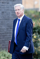 © Licensed to London News Pictures. 29/11/2016. London, UK. Defence Secretary Michael Fallon arriving in Downing Street to attend a cabinet meeting this morning. Photo credit : Tom Nicholson/LNP