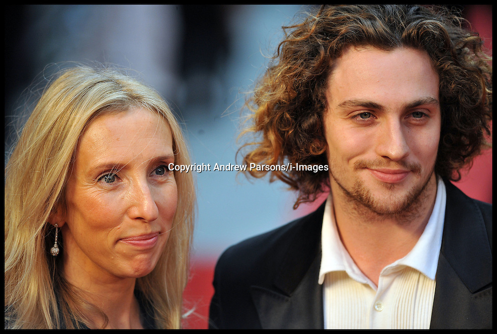 Aaron Johnson, Sam Taylor Wood arrives for the - UK film premiere of Anna Karenina, London, Tuesday September 4, 2012 Photo Andrew Parsons/i-Images..All Rights Reserved ©Andrew Parsons/i-Images