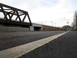 UK ENGLAND LONDON 1MAR14 - A railway bridge of the East London line spans over a small park in Shoreditch, east London.<br /> <br /> <br /> <br /> jre/Photo by Jiri Rezac<br /> <br /> <br /> <br /> © Jiri Rezac 2014