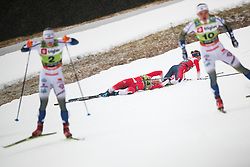 Stenseth Ane (NOR) and Falla Maiken (NOR) during the Ladies sprint free race at FIS Cross Country World Cup Planica 2019, on December 21, 2019 at Planica, Slovenia. Photo By Grega Valancic / Sportida