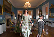 22/6/2011 News. Bishop's Palace Museum in Waterford city opens. Pictured are Ceilin Atkins, Ciara Shiggins and Alex Reid in period dress in the Museum. Photo Patrick Browne<br /> 22/6/2011<br /> The magnificent 18th century Bishop's Palace Museum in Waterford City was officially opened by Dr Leo Varadkar TD, Minister for Transport, Tourism and Sport. The Bishop's Palace sits in the heart of the Viking Triangle, Waterford's historic city centre, and has been restored to its former splendour as a grand residence. www.waterfordtreasures.com
