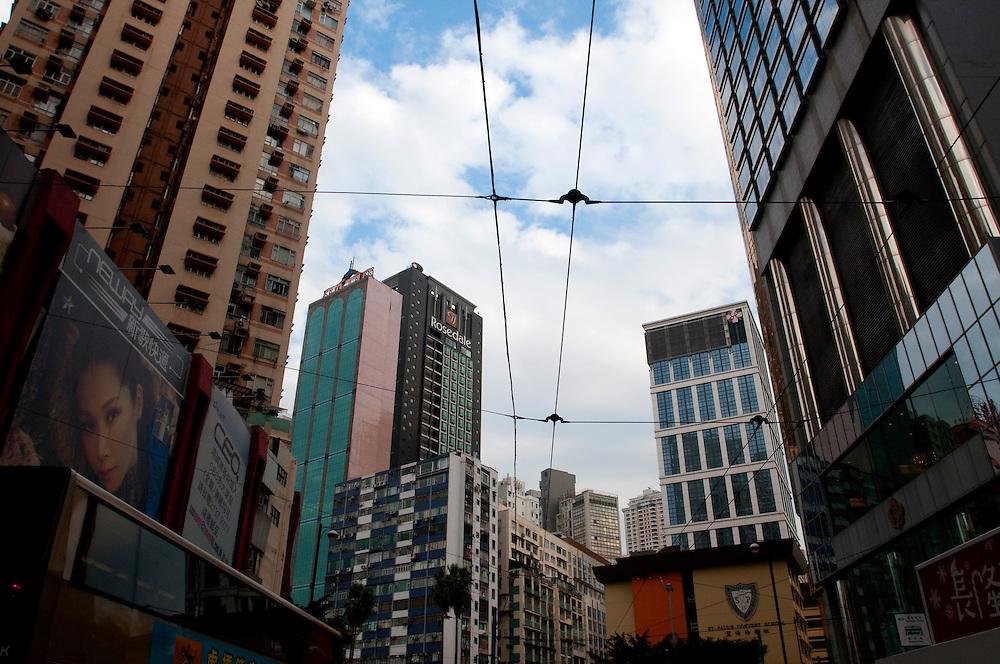 The skyline of Hong Kong, China.