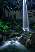 Svartifoss, on Skaftafell National Park, is one of the most beautiful waterfalls of Iceland, due to the basalt formations that surround it