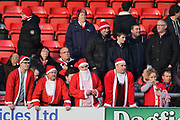 Lincoln City fans await the start of the game during the EFL Sky Bet League 2 match between Crewe Alexandra and Lincoln City at Alexandra Stadium, Crewe, England on 26 December 2018.