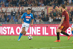 October 14, 2017 - Rome, Italy - Allan Marques Loureiro during the Italian Serie A football match between A.S. Roma and S.S.C. Napoli at the Olympic Stadium in Rome, on october 14, 2017. (Credit Image: © Silvia Lor/Pacific Press via ZUMA Wire)