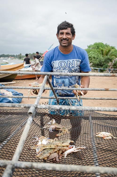 Crab fisherman. Iranamathanagar, Kilinochchi District.