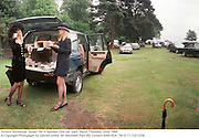 Victoria Schweizer, Susan Hill in Number One car -park. Ascot Thursday  June 1998  © Copyright Photograph by Dafydd Jones  66 Stockwell Park Rd. London SW9 0DA  Tel 0171 733 0108