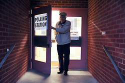 © Licensed to London News Pictures. 20/11/2014<br /> Voters turn up early on the day in the Rochester and Strood Parliamentary By-Election at  St John Fisher Catholic Church,Kent. The Rochester and Strood Parliamentary By-Election polling day, today (20.11.2014) in Kent. Byline:Grant Falvey/LNP