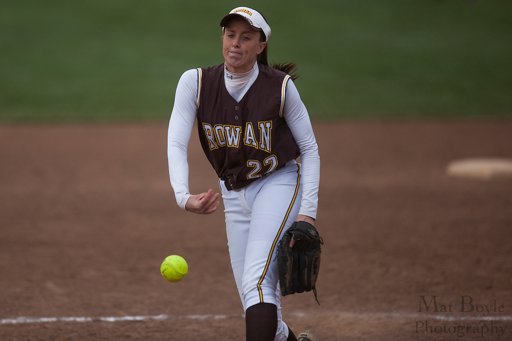 Rowan University Softball Junior LeAnne Miller (18); Rutgers-Camden softball at Rowan University on Tuesday April 10, 2012 in Glassboro, NJ. (photo / Mat Boyle)