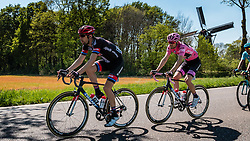 Peloton with DUMOULIN Tom from the Netherlands of Team Giant - Alpecin (GER) in the pink leaders jersey near the Wittebrinksemolen at Hummelo with 130 km to go, stage 3 from Nijmegen to Arnhem running 190 km of the 99th Giro d'Italia (UCI WorldTour), The Netherlands, 8 May 2016. Photo by Pim Nijland / PelotonPhotos.com | All photos usage must carry mandatory copyright credit (Peloton Photos | Pim Nijland)