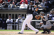 CHICAGO - APRIL 24:  Alex Rios #51 of the Chicago White Sox hits a two-run home run in the fifth inning against the Cleveland Indians on April 24, 2013 at U.S. Cellular Field in Chicago, Illinois.  The White Sox defeated the Indians 3-2.  (Photo by Ron Vesely)   Subject: Alex Rios