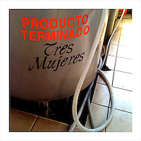 One of the many tanks used in the production of tequila at the Tres Mujeres distillery in Jalisco, Mexico. (iPhone image) --- Image created for http://tastetequila.com