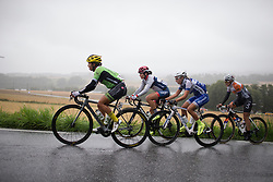The break consisted of Carmen Small (USA) of Cylance Pro Cycling, Joelle Numainville (CAN) of Cervélo-Bigla Cycling Team, Alicia Arzuffi (ITA) of Lensworld Zannata Cycling Team and Lucinda Brand (NED) of Rabo-Liv Cycling Team during the 76,1 km first stage of the 2016 Ladies' Tour of Norway women's road cycling race on August 12, 2016 between Halden and Fredrikstad, Norway. (Photo by Balint Hamvas/Velofocus)