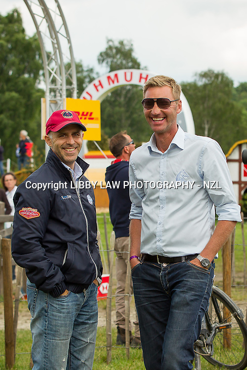 ESNZ HP-Coach: Eric Duvander with Joe Giannamore (Owner of BULLET PROOF) 2013 GER-DHL Luhmühlen International Horse Trial (Friday 14 June) CREDIT: Libby Law  COPYRIGHT: LIBBY LAW PHOTOGRAPHY - NZL