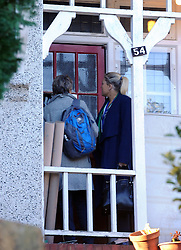 © Licensed to London News Pictures. 07/01/2016<br />   Home of murdered Sian Blake.<br /> Two Metropolitan Police officers/Detectives go up to the front door this afternoon AS IF TO CHECK IT.<br /> <br /> Ex-Eastenders actress Sian Blake's home in Erith,Kent has turned into a crime scene (07.01.2016) with officers from the Met's Homicide and Major Crime Command leading the murder investigation.<br /> <br /> (Byline:Grant Falvey/LNP)