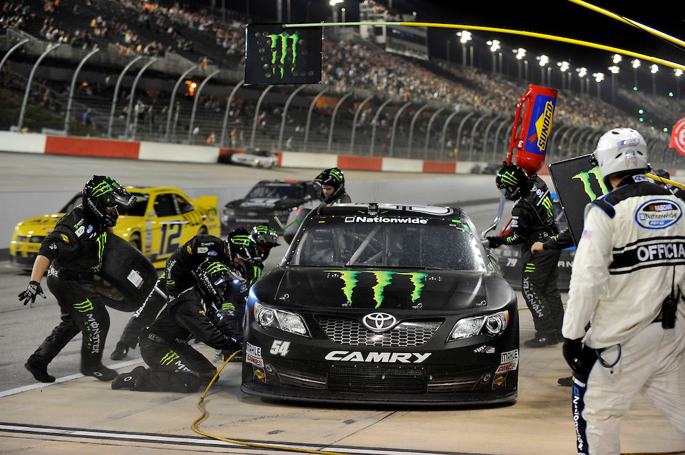 10 May, 2013, Darlington, South Carolina USA.Kyle Busch pit stop.©2013, Scott R LePage.LAT Photo USA
