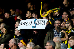 Watford fans hold up banners and inflatable snakes for Everton manager Marco Silva - Mandatory by-line: Robbie Stephenson/JMP - 10/12/2018 - FOOTBALL - Goodison Park - Liverpool, England - Everton v Watford - Premier League