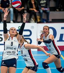 29-09-2018 NED: Supercup Sliedrecht Sport - Eurosped, Sliedrecht<br /> Sliedrecht takes the first price of the new season / Sarah van Aalen #9 of Sliedrecht Sport