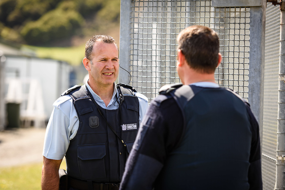 WELLINGTON, NEW ZEALAND - November 17: Corrections NZ: Frontline Features November 17, 2015 in Wellington, New Zealand. (Photo by Mark Tantrum/ http://mark tantrum.com)