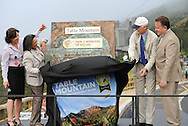 CAPE TOWN, South Africa: Sunday 2 December 2012, Sabine Lehmann, Executive Mayor of Cape Town, Bernard Weber and Jean-Paul de la Fuente during the unveiling of the plaque ceremony of Table Mountain as one of the new 7 wonders of the nature..Photo by Roger Sedres