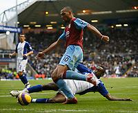 Photo: Steve Bond/Sportsbeat Images.<br /> Birmingham City v Aston Villa. The FA Barclays Premiership. 11/11/2007. John Carew gets a cross in from the byline