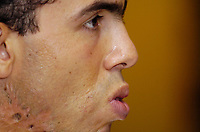 Photo: Olly Greenwood.<br />West Ham United Press Conference. 05/09/2006.  <br />West Ham's Carlos Teves talks to the press.