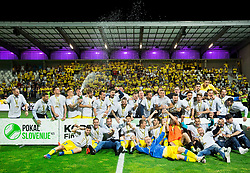 Players of NK Domzale celebrate after winning during football match between NK Domzale and NK Olimpija Ljubljana in Final of Slovenian Cup 2017, on May 31, 2017 in Stadium Bonifika, Koper / Capodistria, Slovenia. Photo by Vid Ponikvar / Sportida