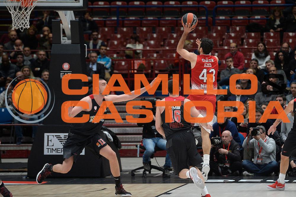 Simon Krunoslav<br /> EA7 Emporio Armani Olimpia Milano - Olympiacos Piraeus<br /> Euroleague 2016/2017<br /> Milano 25/01/2017<br /> Foto Ciamillo-Castoria