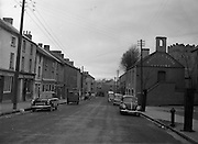 30/03/1957 <br /> Views of towns in Ireland. Main Street Callan, Co. Tipperary, with town hall on right.