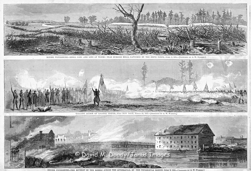 Civil War: The Battles around Petersburg, Virginia (near Richmond) One of the Final battles of the war, just before Lee's surrender at Appomattox.