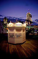 A pier with games,rides and token booth, Brighton, England