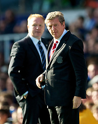 BIRMINGHAM, ENGLAND - Sunday, September 12, 2010: Liverpool's manager Roy Hodgson and Birmingham City's manager Alex McLeish during the Premiership match at St Andrews. (Photo by David Rawcliffe/Propaganda)