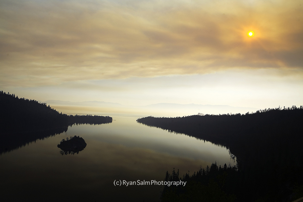 Emerald Bay- Forest Fires in Lake Tahoe