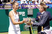 Karolina Pliskova (CZE) Beats Angelique Kerber (GER) Action at the Nature Valley International 2019 at Devonshire Park, Eastbourne, United Kingdom on 29th June 2019.