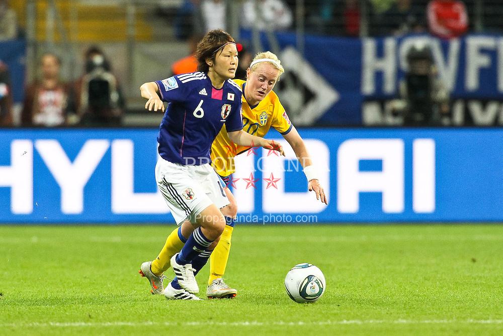 13.07.2011, Commerzbank Arena, Frankfurt, GER, FIFA Women Worldcup 2011, Halbfinale,  Japan (JPN) vs. Schweden (SWE), im Bild.Marie Hammarstrom (Schweden) (R) gegen Mizuho Skaguchi (Japan).. // during the FIFA Women´s Worldcup 2011, Semifinal, Japan vs Sweden on 2011/07/13, Commerzbank Arena, Frankfurt, Germany.   EXPA Pictures © 2011, PhotoCredit: EXPA/ nph/  Mueller       ****** out of GER / CRO  / BEL ******