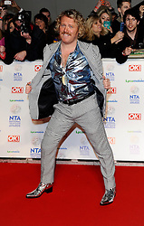 Leigh Francis arrives at The National Television Awards Ceremony 2014, The O2 Arena, Greenwich,  London, United Kingdom. Wednesday, 22nd January 2014. Picture by i-Images