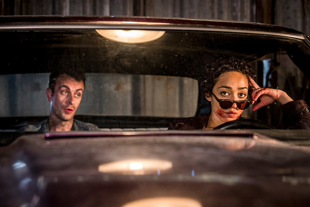 Joseph Gilgun as Cassidy, Ruth Negga as Tulip O'Hare in Preacher, Season 2, Episode 1 - Photo Credit: Skip Bolen/AMC/Sony Pictures Television