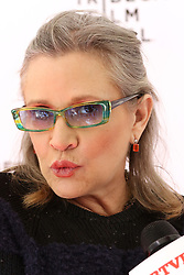 "Carrie Fisher attends the screening of ""Catastrophe"" at the Tribeca Film Festival in New York."