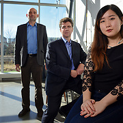 From Left: Steve Lambert, Jeff Chambers, and Lilly Zheng, University of Waterloo, October  23, 2015.<br /> <br /> <br /> Ian M. Stewart Photo