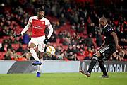 Arsenal's Ainsley Maitland-Niles (15) during the Europa League group stage match between Arsenal and FK QARABAG at the Emirates Stadium, London, England on 13 December 2018.