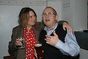 SARA LUCAS AND TREVOR GULLIVER, Meeting of Minds in aid of the Parkinson's Appeal for Deep Brain Stimulation at Christie's. Party afterwards at St. John restaurant. 16 October 2007.  -DO NOT ARCHIVE-© Copyright Photograph by Dafydd Jones. 248 Clapham Rd. London SW9 0PZ. Tel 0207 820 0771. www.dafjones.com.