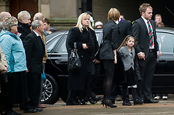 """Family including Cheryl Routlidge mother and Brother Jonathan Riley arrive at the funeral of  Corporal Liam Riley whose Funeral service took place at Sheffield Cathedral on Wednesday 24 February.   ..Corporal Riley of 3rd Battalion Yorkshire Regiment who died in an explosion in Afghanistan on 1 February 2010 while on foot patrol south of the Kings Hill check point Helmand. ..Upon hearing of Liam's death he was described by Price Harry as """"a legend"""""""