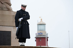 © under license to London News Pictures.  14/11/2010. Remembrance Sunday in Plymouth. Members of the armed forces past and present congregated at Plymouth Hoe today (Sun) to pay respects to all who those who lost their lives in current and past conflicts, including the First and Second World Wars. Photo credit should read: David Hedges/London News Pictures